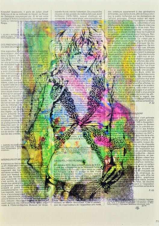 After Bath On Vintage Paper - Image 0