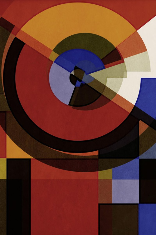 Hertz Van Bauhaus THREE, Abstract Geometric Art, Limited Edition of 6 - Image 0