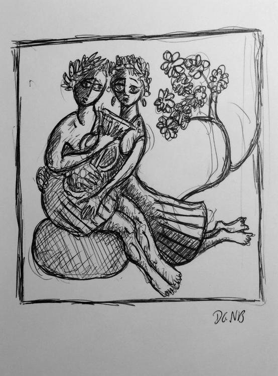Orpheus and Eurydice sketch - Image 0