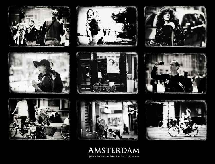 Amsterdammers and Strangers. Amsterdam by Jenny Rainbow (Ltd Edition of only 25 Fine Art Giclee Prints from an original photograph)
