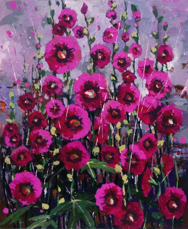Magenta mallow Flowers - Image 0