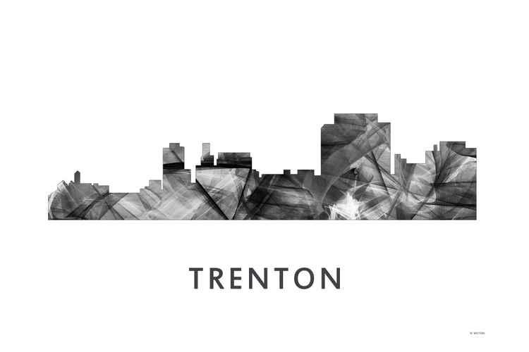 Trenton New Jersey Skyline WB BW -