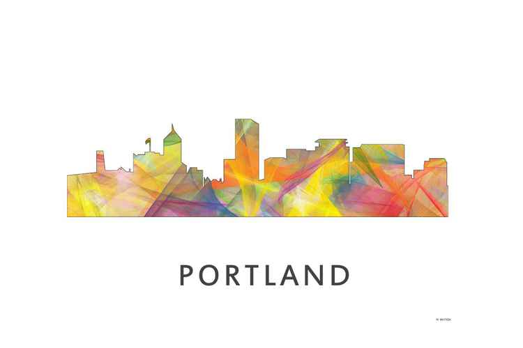 Portland Oregon Skyline WB1