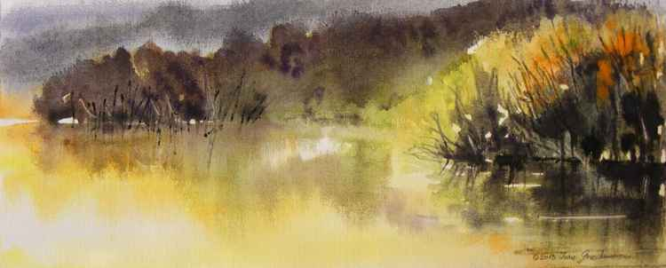 """Autumn impression on the river 2"""