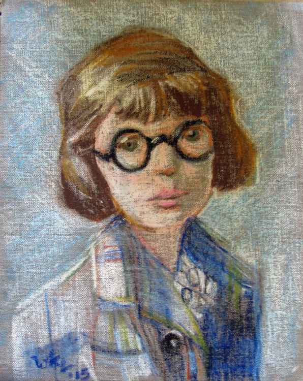 Young Girl with Glasses -