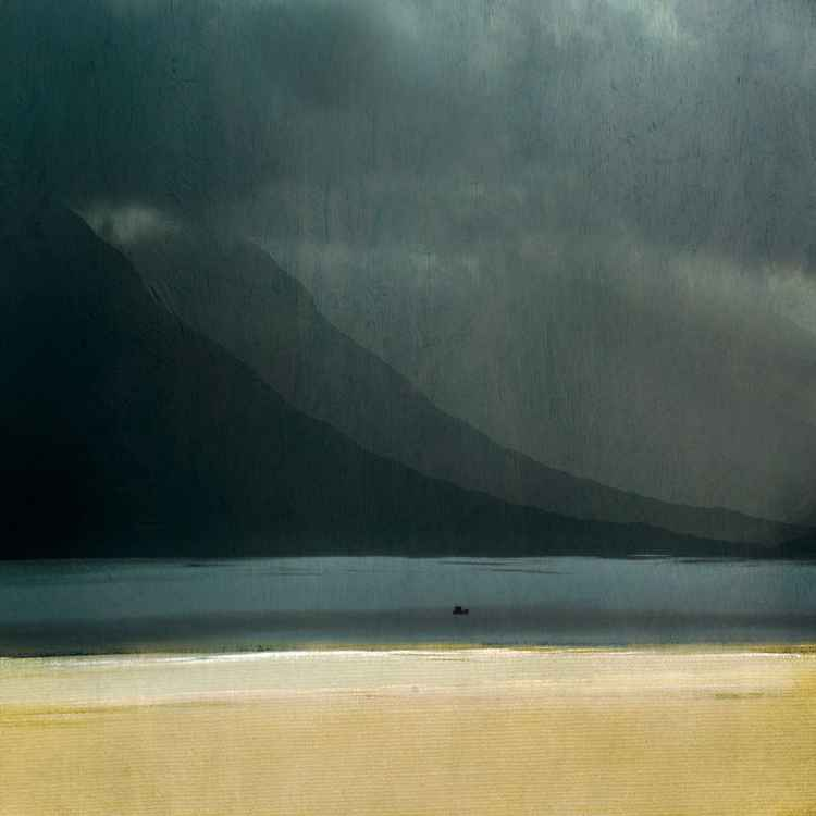 "The Isle of Mull, Large Giclee Print.  ""Fishing""  Mull Scotland -"