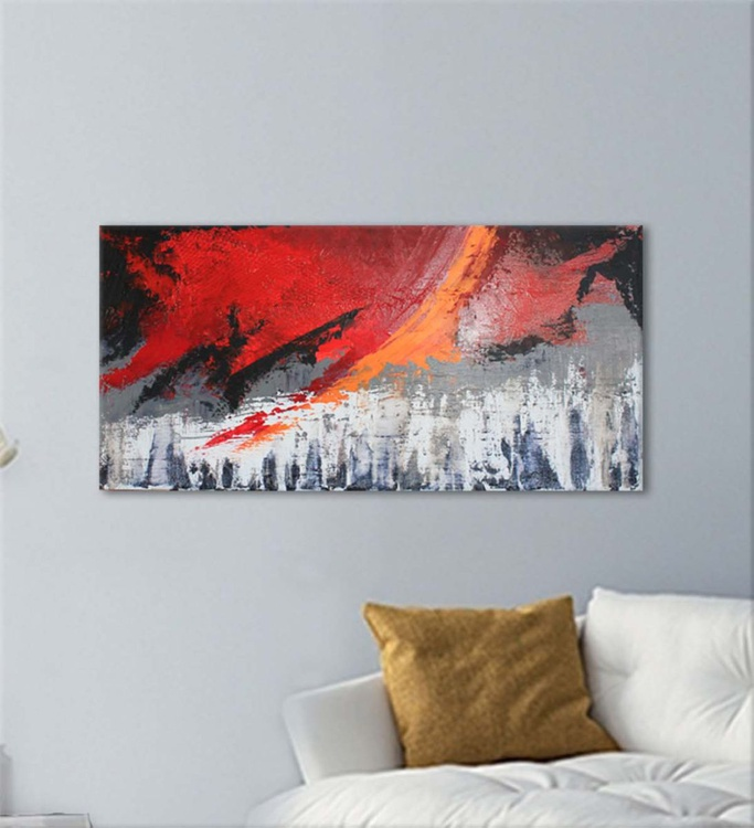 ABSTRACT IX  - Original Abstract on Gallery Wrapped Canvas - Ready To Hang - Image 0