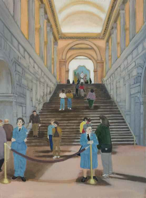 THE GRAND STAIRCASE OF THE METROPOLITAN MUSEUM