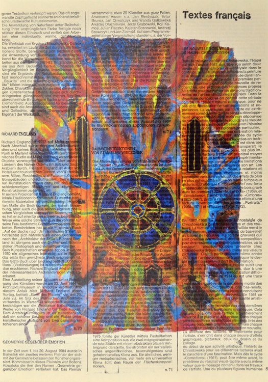 Abstract Cathedral On Vintage Paper - Image 0