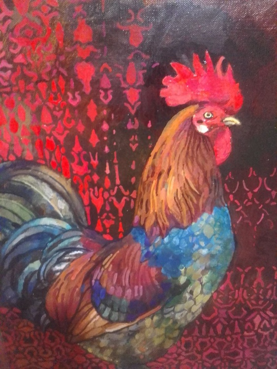 fortunetelling with a rooster - Image 0