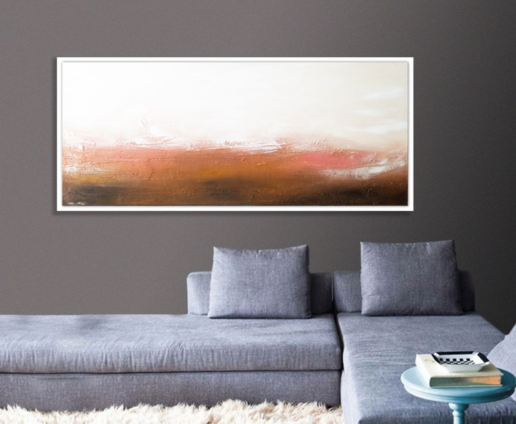 Landscape Textured abstract painting - Image 0