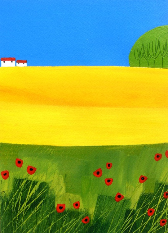 Rapeseed and Poppies - Image 0