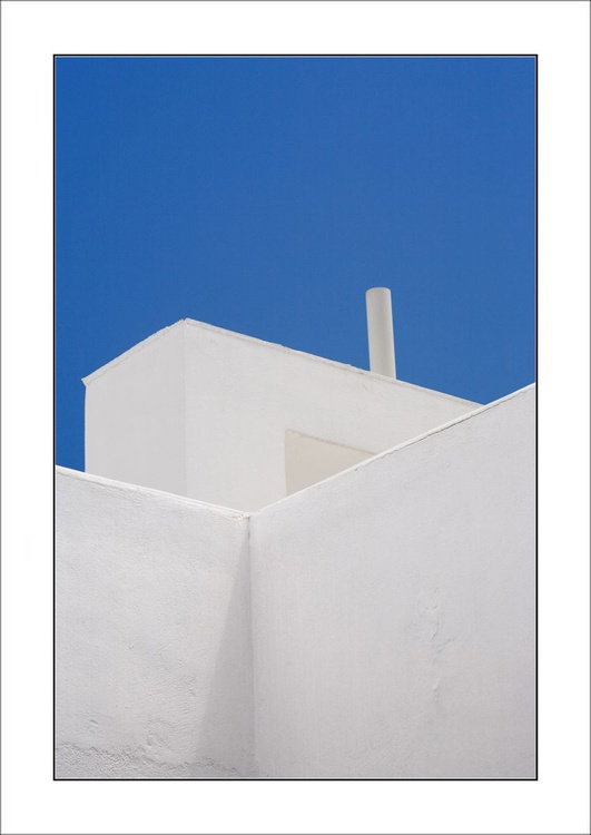 From the Greek Minimalism series: Greek Architectural Detail (Blue and White) # 14, Santorini, Greece - Image 0