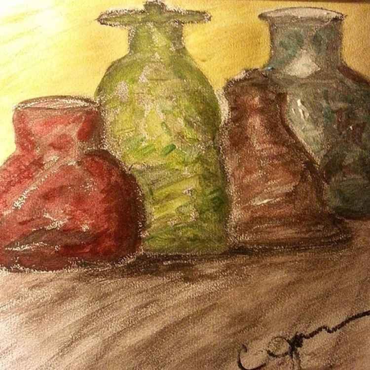 Still Life Bottles -