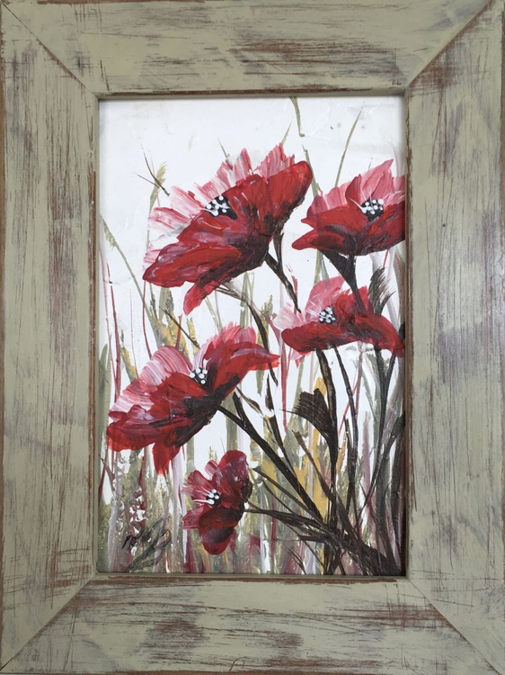 Red Poppies in a frame Nr 1 - Image 0