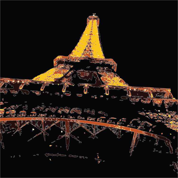 EIFFEL TOWER AT NIGHT -