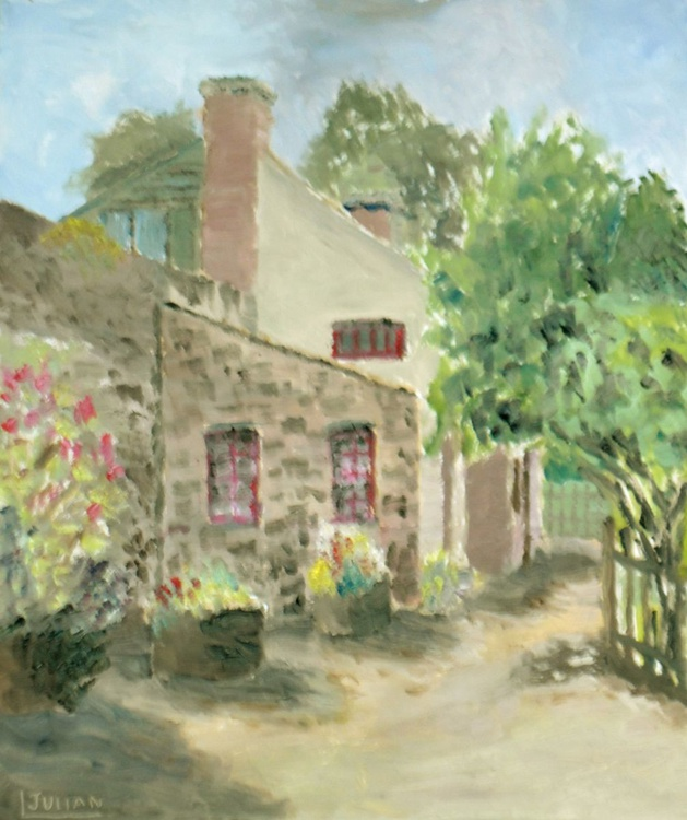 Farm buildings at Ballymore, Co Wexford, Ireland - An original oil painting made on location! - Image 0