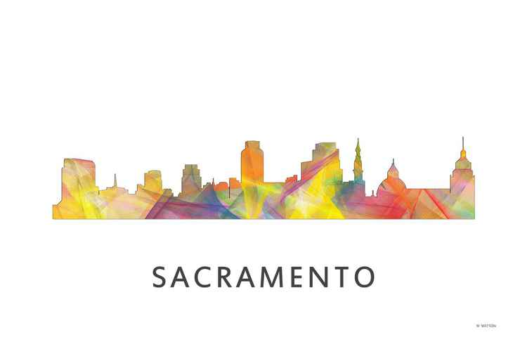 Sacramento California Skyline WB1 -