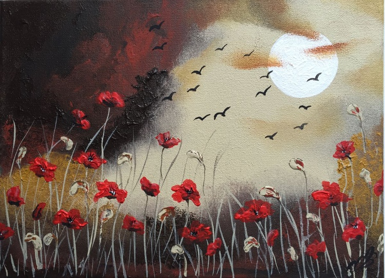 Poppies by the FullMoon - Image 0