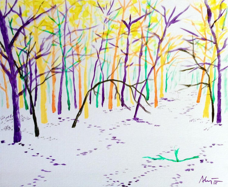 Snowy forest IV - Image 0
