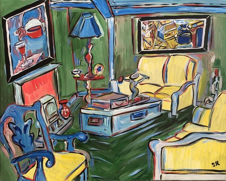 Livingroom With Bronze Sculpture - Image 0