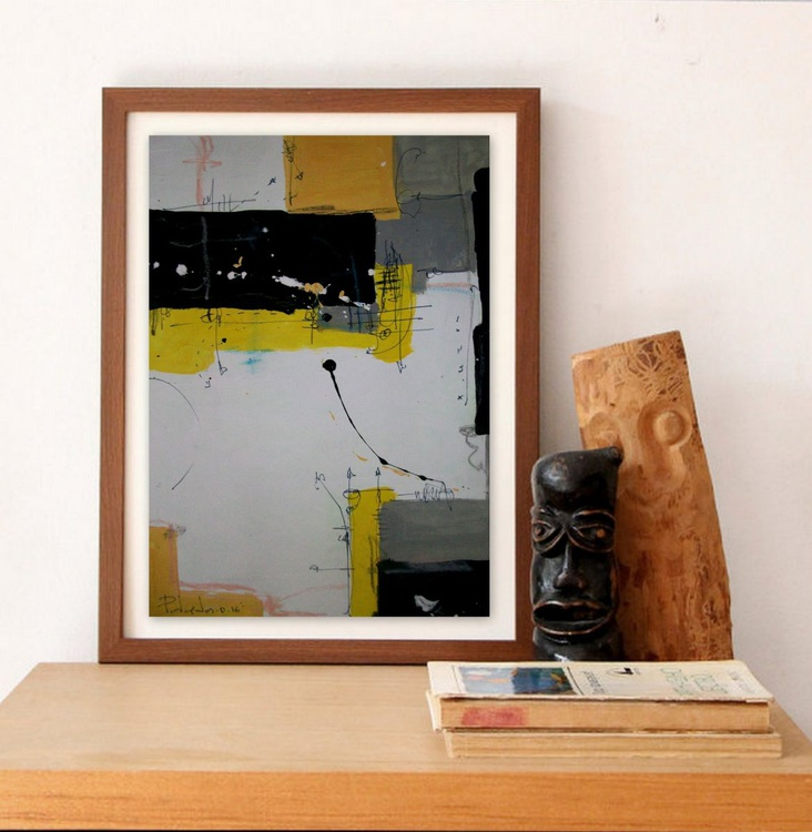yellow VIII, Abstract paper collection - Image 0