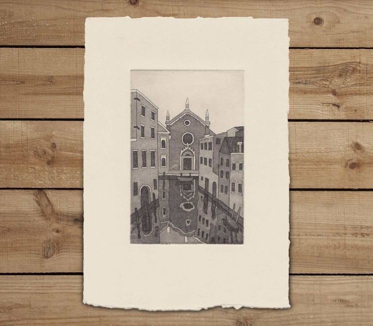 Madonna dell'Orto on Ivory paper - Image 0
