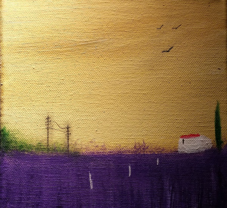 """"""" lavender in Provence """" ( miniature size ) - Image 0"""