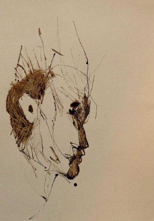 Brown Heads 7, 21x29 cm - Image 0
