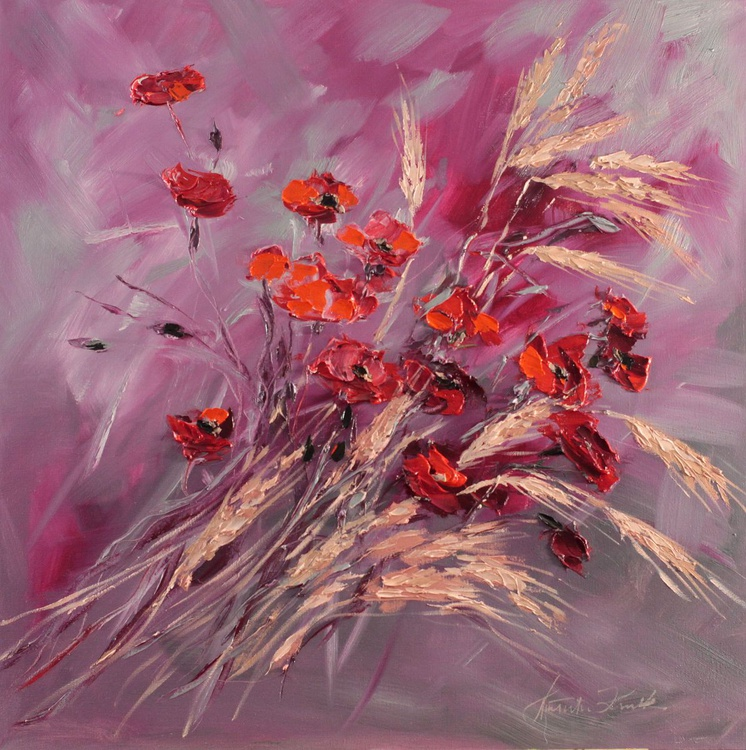 Wheat with poppies - Image 0