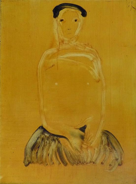 APACHE WOMAN, oil on canvas, 73x54 cm - Image 0