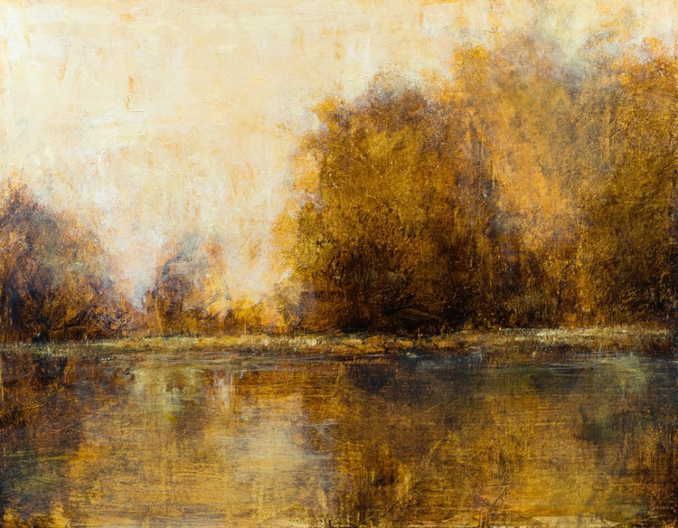 Afternoon Reflections 3-14 22x28 inches - Image 0