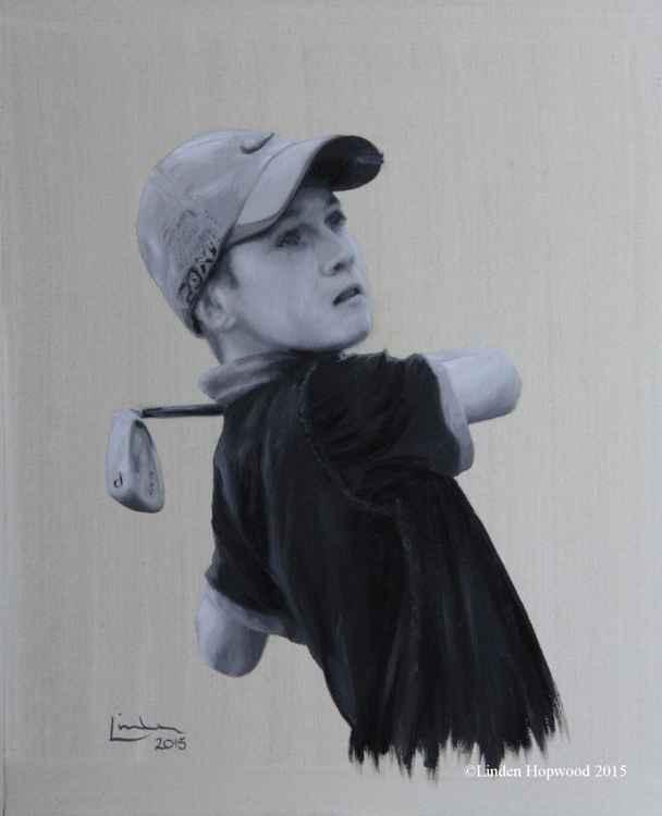 Junior golfer (oil sketch) -