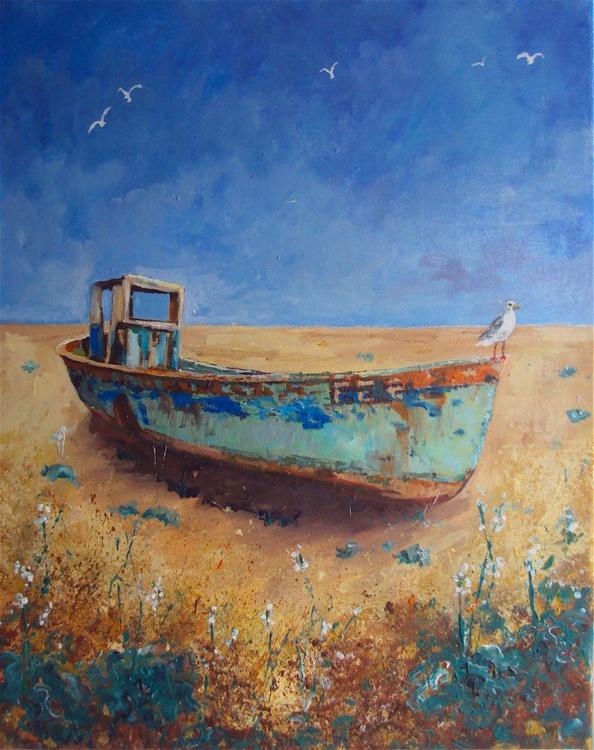 Fishing Boat Seagull - Image 0