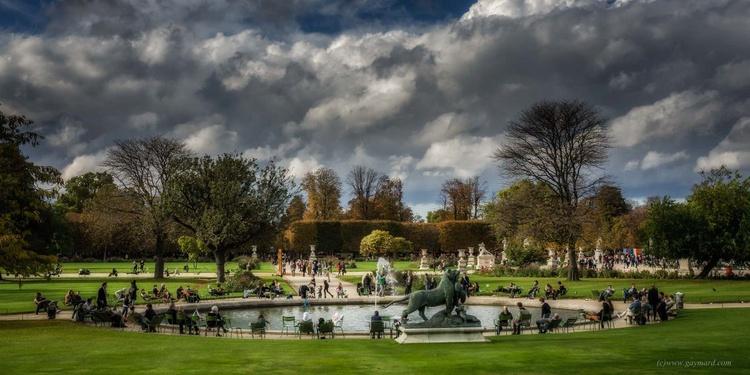 Paris, les Tuileries, the llake - Image 0