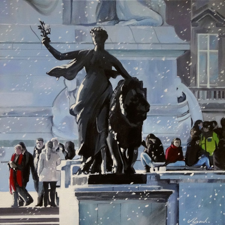 Snow Flurries On The Mall - Image 0