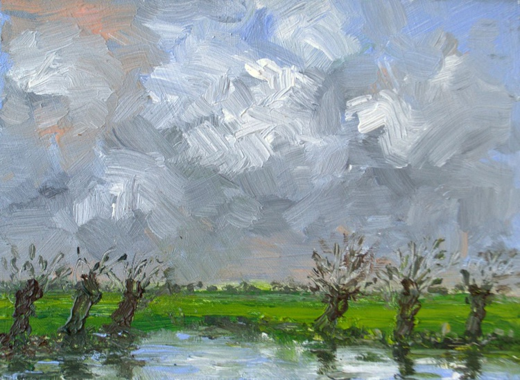 Willows in the polder 2 - Image 0