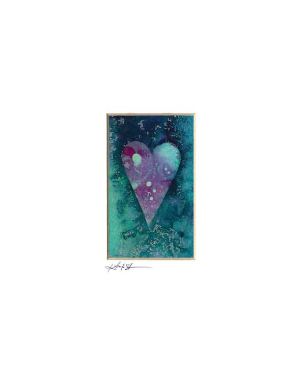 Heart Watercolor Painting, Abstract - Heart No. 817