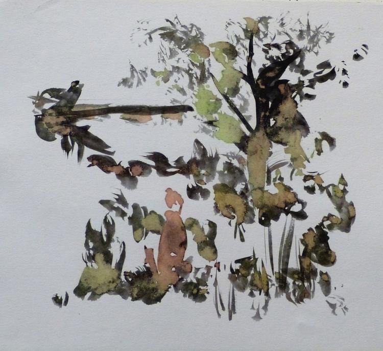 Autumn Landscape, 29x24 cm - Image 0