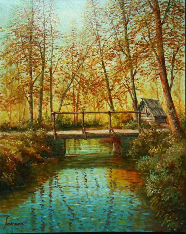 wooden bridge -
