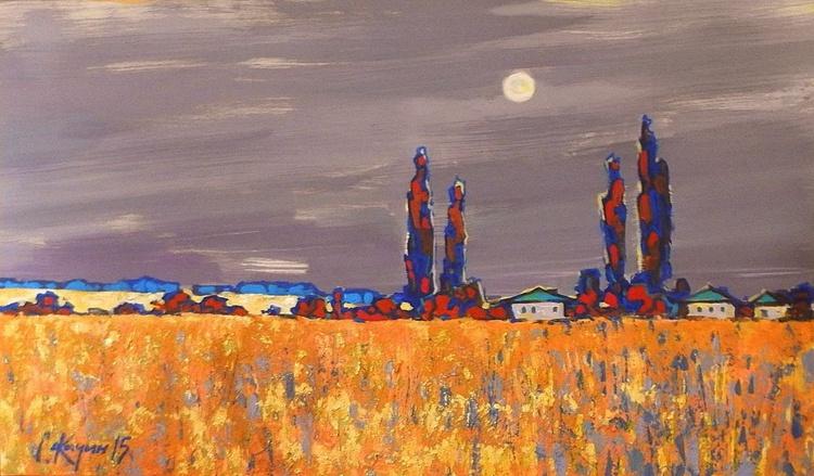 moonlight night, 100x60 cm - Image 0