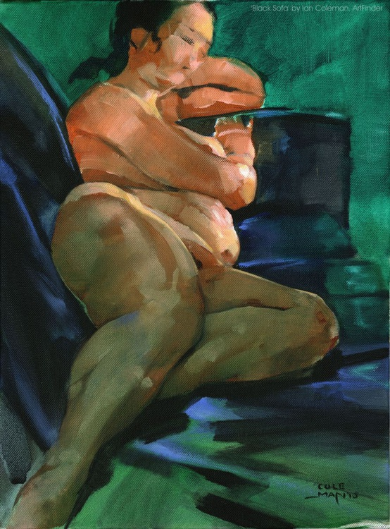 Black Sofa nude - Image 0