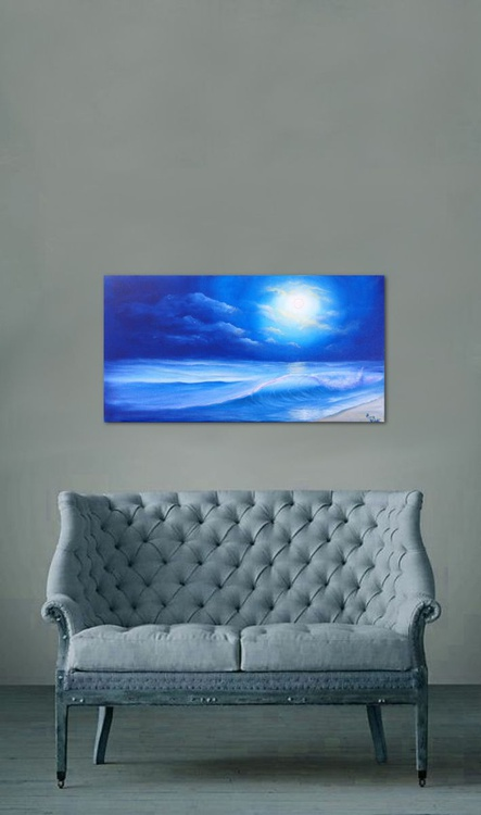 "Nocturne in Blue 24x12"" - Image 0"