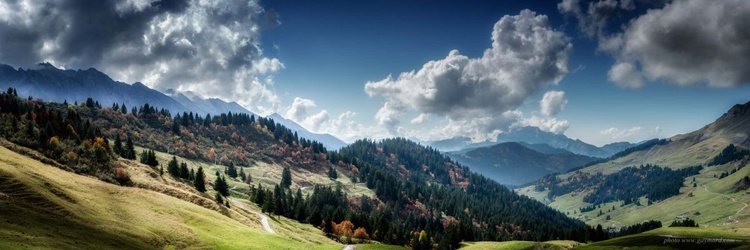 A valley of Aravis / Framed - Image 0