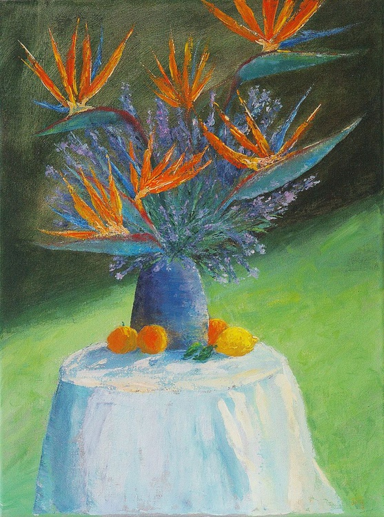 Bird of paradise with lavender from my garden - Image 0