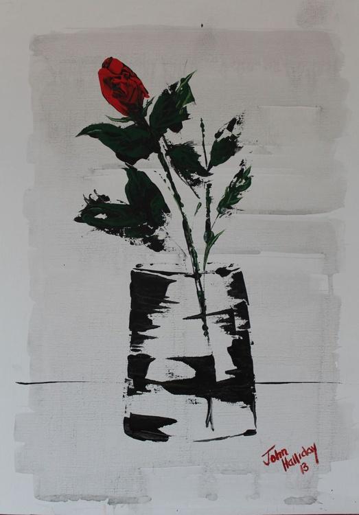 Red Rose in vase 1. - Image 0