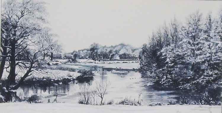 Adlington Cheshire in Winter -