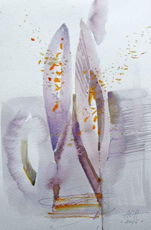 fog light abstract watercolour original sketch