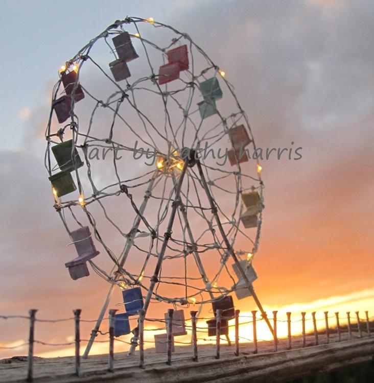Sculpture art photo of ferris wheel - Image 0