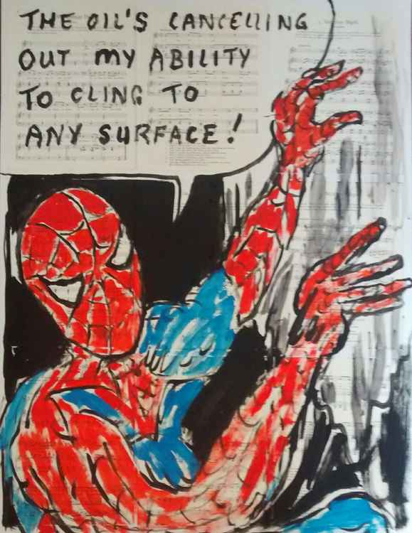 Spiderman & the oil slick.. -